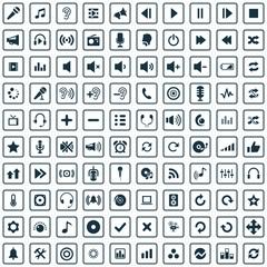 100 audio icons