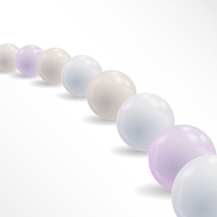 Abstract background with shiny balls. vector pearls