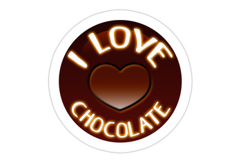 I Love Chocolate - Sticker
