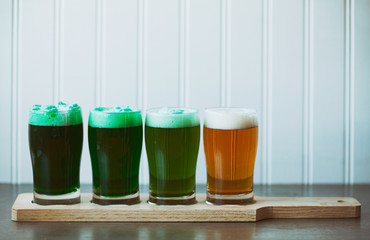 Green Beer Flight For St. Patrick's Day