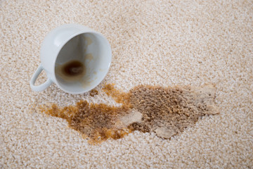 Coffee Spilling On Carpet