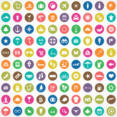 100 beach icons.