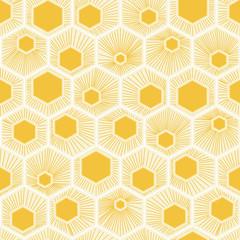 vector honeycomb pattern yellow