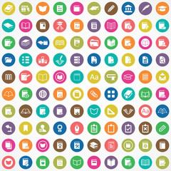 100 books icons