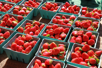 containers of strawberries
