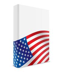 USA book cover flag white