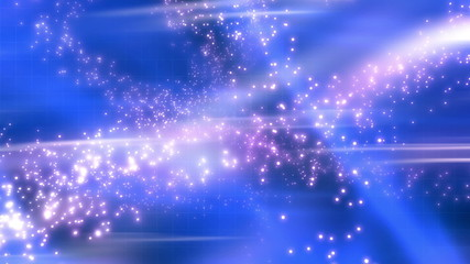 Looping Blue Abstract Particles and Streaks Animated Background