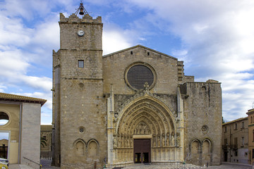 nobady high and old church in north of spain, castello empuries