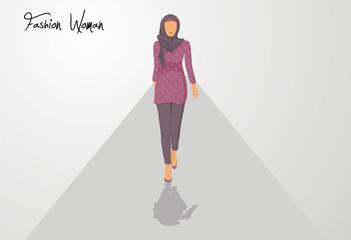 Woman fashion veil vector illustration logo