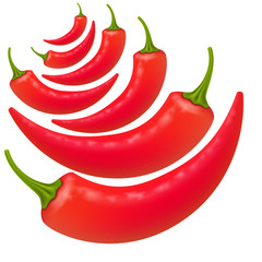 Hot peppers background