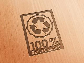 100 % Recyclable - Rahmen Holz - D