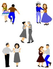 country square dancers