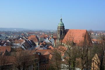 Blick auf St. Marien in Pirna