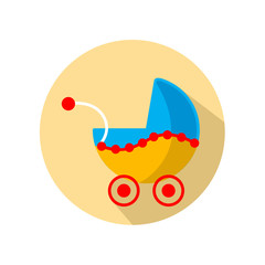 Baby buggy.Vector illustration.