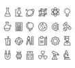 Trendy science icons on white. Vector elements - 78490772