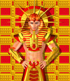 Egyptian Pharaoh Ramses. Modern digital art , Egyptian king.