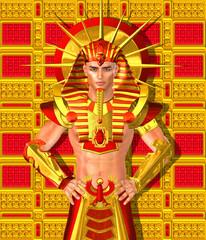 Egyptian Pharaoh Ramses. Modern digital art , Egyptian king.