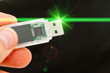 USB data storage with hand and laser ray