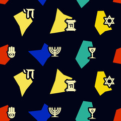 Seamless background with jewish symbols for your design