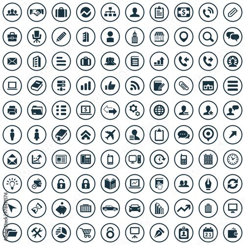 100 company icons poster