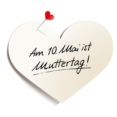 Herzförmiges Memo - Muttertag 2015