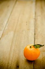 Orange Fruit on wooden background