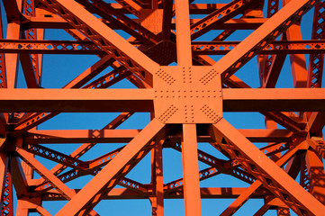 Detail of the Golden Gate Bridge, San Francisco