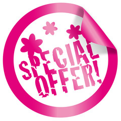 sticker / button special offer