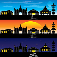 Asian Architecture and Building Vector