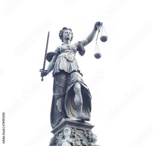 Foto op Plexiglas Historisch mon. Lady Justice statue