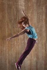 Pretty break dancer