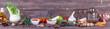 Leinwanddruck Bild - Panoramic of spices