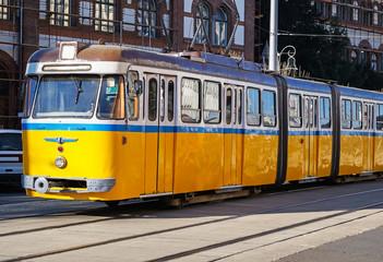 Old yellow citycar