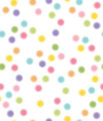Vector seamless pattern, colorful circles shapes.