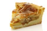 fresh piece of fresh apple pie on a white background