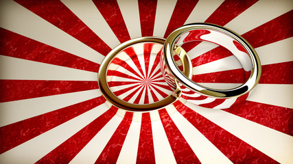 abstract background with 2 wedding rings
