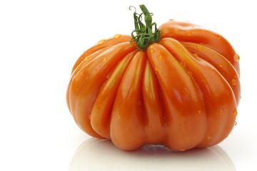 """""""cœur de bœuf"""" tomato on a white background"""