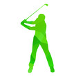 Abstract golfer silhouette - 78495326