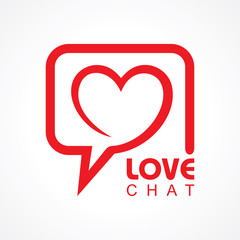 Chat for love concept stock vector