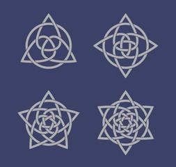 Set of celtic knot symbols
