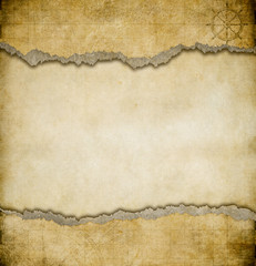 grunge torn paper vintage map background