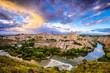 Obrazy na płótnie, fototapety, zdjęcia, fotoobrazy drukowane : Toledo, Spain Old Town Skyline on the Tagus River