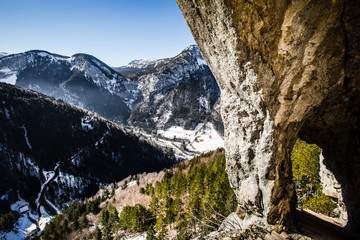 Montée à flanc de montagne