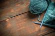 Woollen thread and knitting needle - 78497962