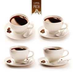 Coffee cup set with clipping path © raksitar
