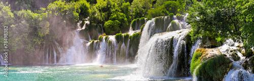 Deurstickers Watervallen Krka waterfalls