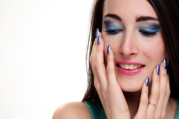 Girl portrait with fashion makeup