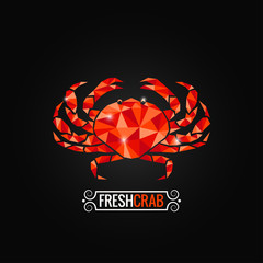 crab seafood poly design background
