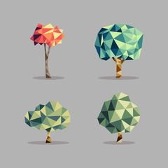 Triangle abstract tree set