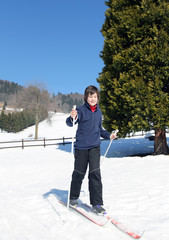 first time with cross-country skiing